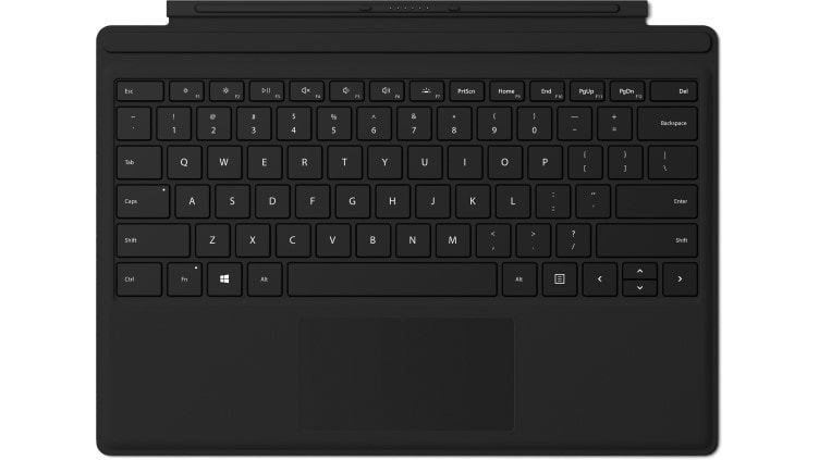 Microsoft Surface Pro Signature Type Cover FPR mobile device keyboard UK English Black Microsoft Cover port
