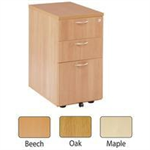 JEMINI FF JEMINI 3 DRAWER UNDER-DESK PED OAK
