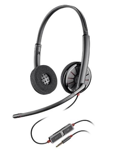 Plantronics Blackwire 225 mobile headset Binaural Head-band Black Wired