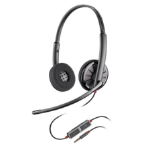Plantronics Blackwire 225 mobile headset Binaural Head-band Black Wired