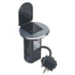C2G 80863 Type G (BS 1363) Black,Metallic socket-outlet