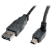 Tripp Lite Universal Reversible USB 2.0 Hi-Speed Cable (Reversible A to Up-angle 5Pin Mini B M/M), 6-ft.