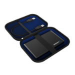 Sabrent EC-CASE storage drive case Pouch case Mesh Black, Blue