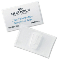 Durable 8211-19 Polypropylene (PP) 25pc(s) identity badge/badge holder