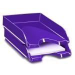 CEP Gloss Polystyrene Purple desk tray