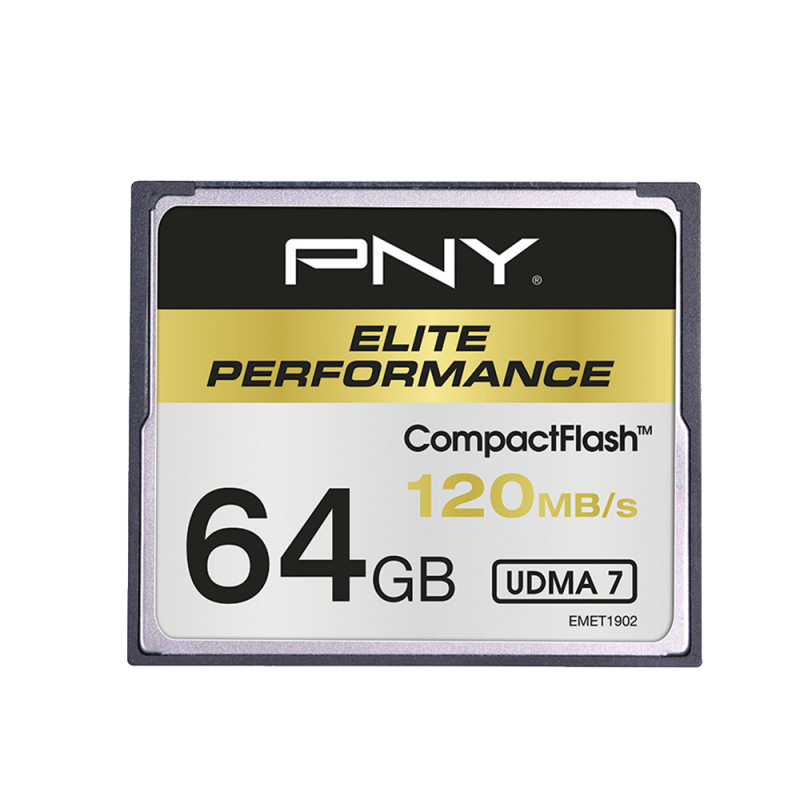 PNY CF Elite Performance 64GB CompactFlash memory card