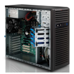 Supermicro 732I-500B Mid-Tower Black Workstation Case with 500W 80PLUS Bronze Power Supply