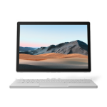 "Microsoft Surface Book 3 Hybrid (2-in-1) Platinum 34.3 cm (13.5"") 3000 x 2000 pixels Touchscreen 10th gen Intel® Core™ i7 32 GB LPDDR4x-SDRAM 1000 GB SSD NVIDIA GeForce GTX 1650 Max-Q Wi-Fi 6 (802.11ax) Windows 10 Pro"