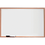 Nobo Basic Melamine Non Magnetic Whiteboard 900x600mm with Pine Trim