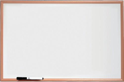 Nobo Basic Melamine Non Magnetic Whiteboard 900x600mm with Pine Trim
