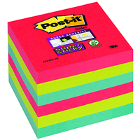 Post-It Super Sticky Colour Notes Pad 90 Sheets BoraBora 76x76mm Ref 654-6SS-JP [Pack6]