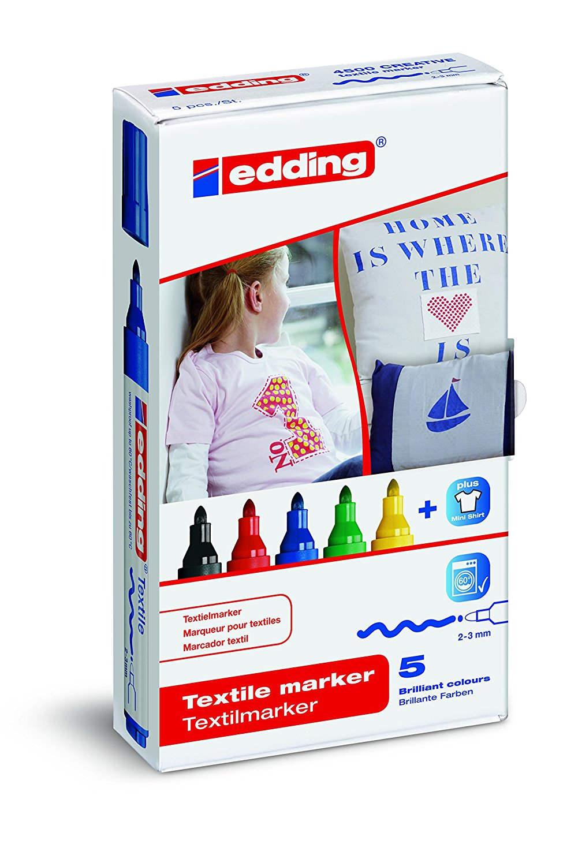 Edding 4500 Textile Marker Assorted  PK5