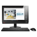 "Lenovo ThinkCentre M800z 3.9GHz i3-7100 21.5"" 1920 x 1080pixels Black All-in-One PC"