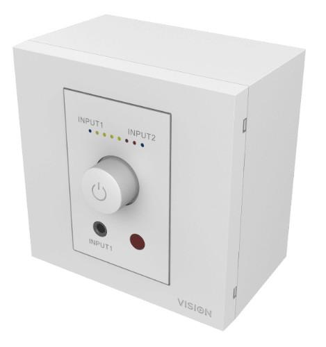 Vision TC3 50w audio amplifier 2.0 channels Home White