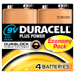 Duracell Plus Power Alkaline 9V non-rechargeable battery