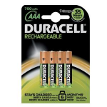 Duracell Rechargeable Plus AAA Nickel Metal Hydride 750mAh 1.2V rechargeable batteryZZZZZ], 81364750