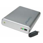 CRU CRU 500GB ToughTech Secure mini-Q; FIPS 140-2 256-bit AES encryption; 3 keys; FW800/eSATA/USB2