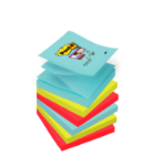 Post-It R330-6SS-MIA self-adhesive note paper Square Aqua colour,Lime,Red 90 sheets