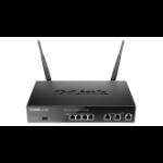 D-Link DSR-500AC wireless router Dual-band (2.4 GHz / 5 GHz) Gigabit Ethernet Black