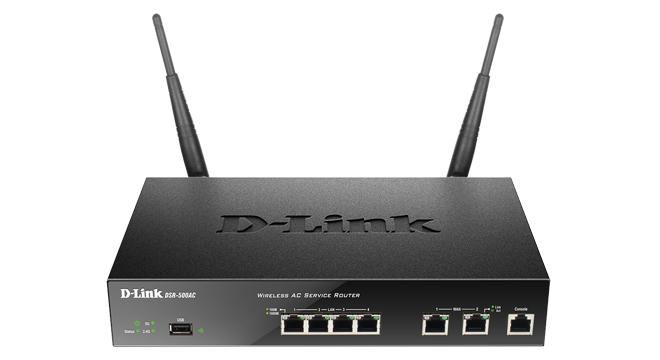 D-Link DSR-500AC Dual-band (2.4 GHz / 5 GHz) Gigabit Ethernet Black wireless router