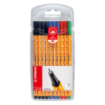 Stabilo point 88 Black, Blue, Green, Red 10pc(s) fineliner