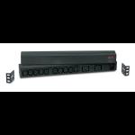 APC RACK PDU BASIC 1 U 16A 230V unidad de distribución de energía (PDU) 0U/1U Negro 12 salidas AC