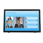 """Planar Systems PCT2485 23.6"""" 1920 x 1080pixels Tabletop Black touch screen monitor"""
