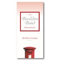 Basildon BOND ENVELOPE MEDIUM WHT PK20