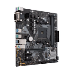 ASUS AMD AM4 mATX motherboard withwith LED lighting, DDR4 3200MHz, M.2, SATA 6Gbps and USB 3.1 Gen 2