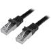 StarTech.com N6SPAT50CMBK cable de red Negro 0,5 m Cat6 SF/UTP (S-FTP)