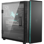 MSI CREATOR 400M Mid Tower Silent Computer Case 'Black, 3x 140mm PWM Fans, USB Type-C, Soundproof Cotton, Laminated Tempered Glass Panel, E-ATX, ATX, mATX, mini-ITX'