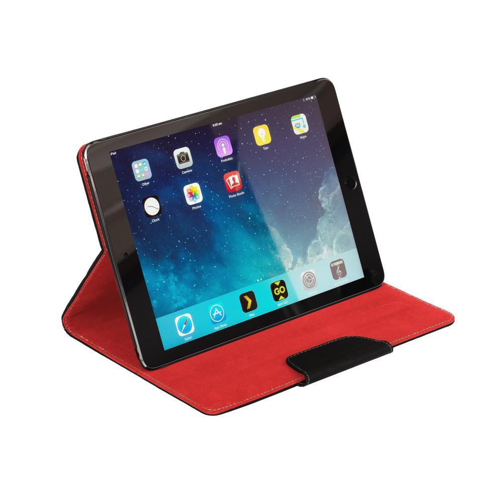 NVS Folio Stand iPad Mini 4 Apple iPad Air 2 Auto Wake Up/Sleep Function- Black/Red