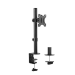 Brateck Single Screen Economical Articulating Steel Monitor Arm For most 13'-32' LCD monitors, Up to 8kg/Scr