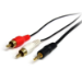StarTech.com 1 ft Stereo Audio Cable - 3.5mm Male to 2x RCA Male