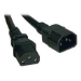 Tripp Lite Heavy-Duty Power Extension Cord, 15A, 14AWG (IEC-320-C14 to IEC-320-C13), 18-in.