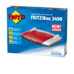 AVM FRITZ!Box 3490 International Dual-band (2.4 GHz / 5 GHz) Gigabit Ethernet Rood, Wit draadloze router