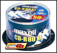 Maxell CD-R 700MB 80min XL 52x Spindle 10pk 10 pc(s)