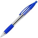 Hainenko Value Retractable Ball Pen Rubber Grip 0.7mm Blue (PK10)
