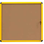 Bi-Office VT6301611511 bulletin board Fixed bulletin board Wood, Yellow Cork