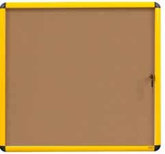 Bi-Office VT6301611511 bulletin board Fixed bulletin board Wood, Yellow Cork
