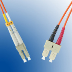 Microconnect LC/PC-SC/PC 1m 1m LC SC Orange fiber optic cable