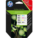 HP C2P43AE (950XL/951XL) Ink cartridge multi pack, 2300+1500 pg, Pack qty 4