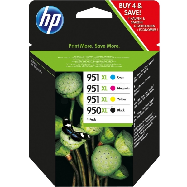 HP C2P43AE#301 (950XL/951XL) Ink cartridge multi pack, 2300+1500 pg, Pack qty 4