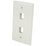 StarTech.com Dual Outlet RJ45 Universal Wall Plate White
