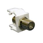 C2G Snap-In F-type Keystone Module White