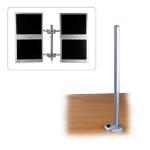 Lindy 40963 Silver flat panel desk mount