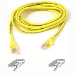 Belkin Cable patch CAT5 RJ45 snagless 1m yellow networking cable