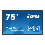 "iiyama ProLite TE7568MIS-B1AG Interactive flat panel 75"" LED 4K Ultra HD Black"