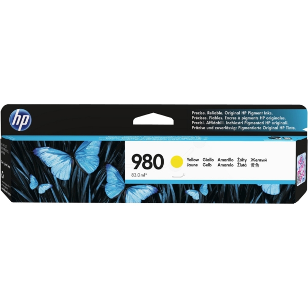 HP D8J09A (980) Ink cartridge yellow, 6.6K pages, 83ml