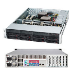Supermicro SC825TQC-R740LPB Rack Black 740 W